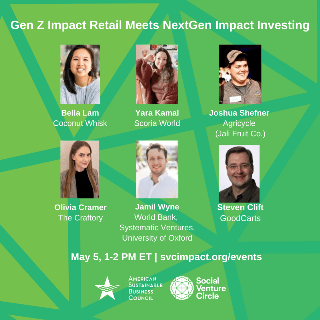 Gen Z Entrepreneurs Meet the Next Generation of Impact Investors event