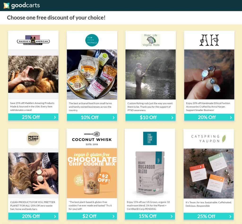 GoodCarts Sample Coupons USA